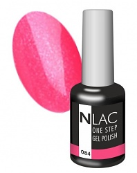 NLAC One Step gel lak - glitrová pink