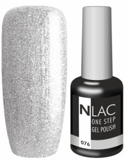 NLAC One Step gel lak 076 - stříbrná