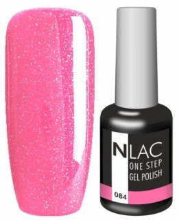 NLAC One Step gel lak 084 - glitrová pink